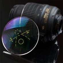 Lentes multifocales progresivos exteriores, lente graduada antireflectante para decoloración de la miopía, hipermetropía, Anti UV, 1,56
