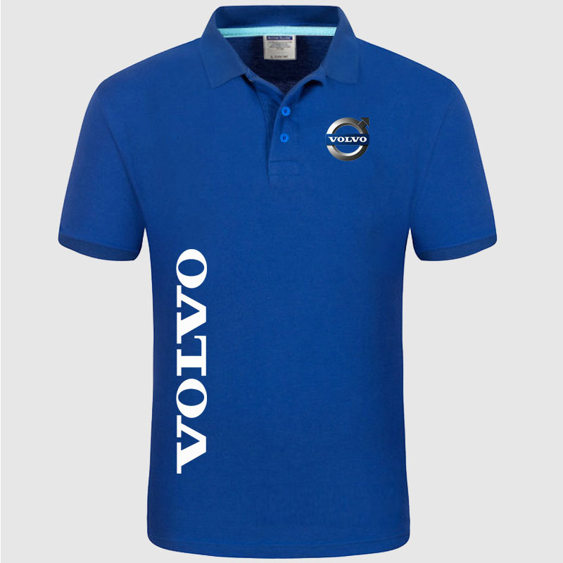 Brand New Men's Volvo logo   Polo   Shirt unisex   Polo   shirt Men Cotton Short Sleeve shirt clothes SizeS- XXXL