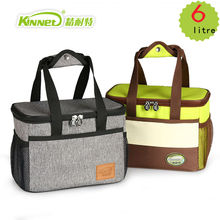 KinNet cooler bag waterproof thermal bag Oxford fabric Aluminum foil lining thickened food refrigeration ice pack 6L lunch bag