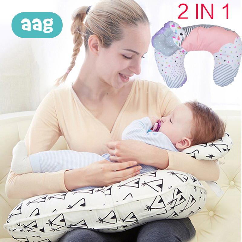 AAG 2Pcs/Set Baby Infant Nursing Pillows Maternity Newborn Breastfeeding Pillow Cuddle U-Shaped Kids Feeding Waist Cushion 20
