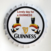 Tin Sign Lovely day for a GUINNESS Vintage Metal Painting Beer Cover Cafe Bar Hanging Ornaments Wallpaper Decor Plates