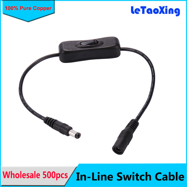 In Line Power Switch ON/OFF 2.1mm/5.5mm Cable Jack DC Plug 12V for ...