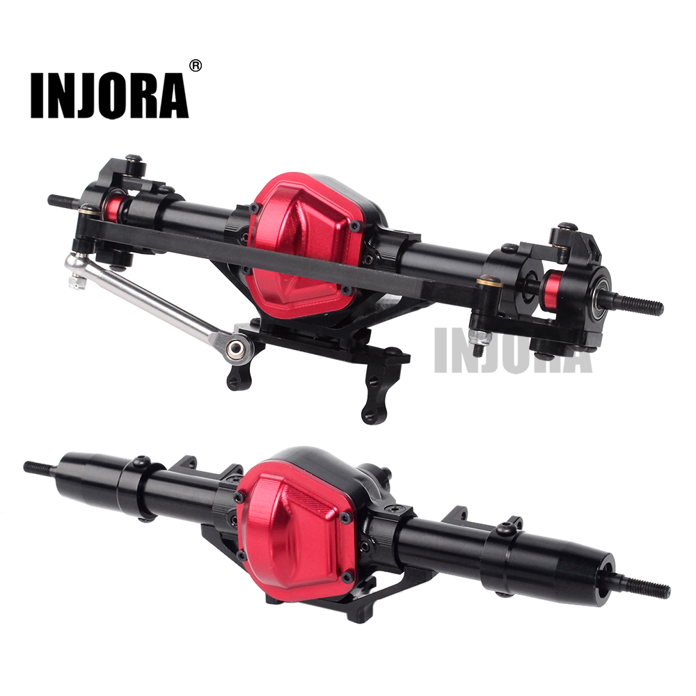 INJORA CNC Metal RC Car Front / Rear Axle For Axial SCX10 1:10 RC Crawler Car Upgrade Parts