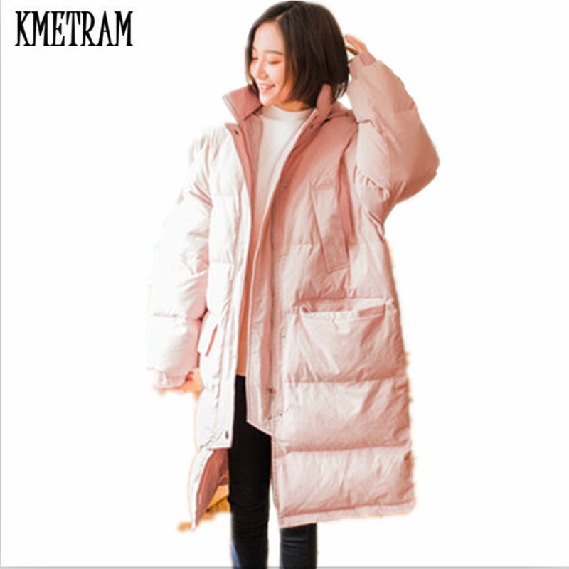 Black Chaud light Femmes Parka Style pink 2018 Long D'hiver Kmetram Hh466 Hiver Green Femme Manteau Dames Veste Lâche Pain Surdimensionné TaFYTwqnp