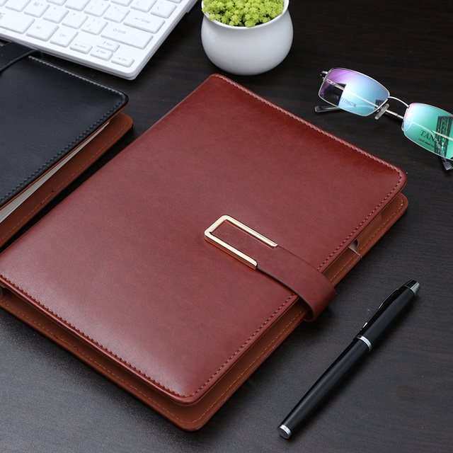creative unique business loose-leaf A5 faux leather notebook spiral travel office agenda planner dairy composition book 1258A