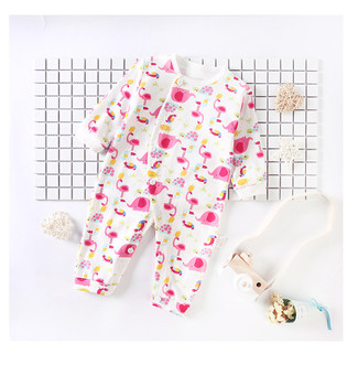2018 New Arrival Baby Kids Boy Girl Clothing Infant Romper Flamingo Printed Jumpsuit Long Sleeve Cotton Clothes Baby Boys Outfit