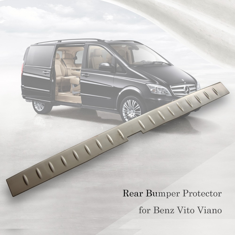 High quality stainless steel rear bumper protector  cover sill plate trunk trim accessories for Benz Vito Viano 2010-2015