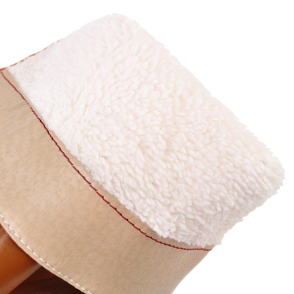 Zapatos Talones 34 Piel Sarairis Mujer Botas 43 White Fur Fur Caliente Venta brown Mediados black brown De Gran Fur Cremallera With white Invierno Dropship Grueso Tamaño black 2018 Añadir Ternero qvTvXwZ