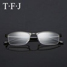 161afabe7e TFJ Titanium Reading Glasses Nose Unisex Blue Light Blocking Metal Half  Frame Lunette