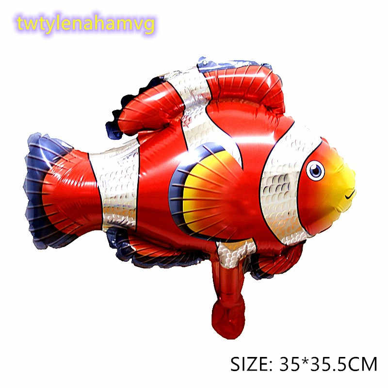 Mini ใหม่ปลาสัตว์บอลลูนวันเกิดตกแต่ง ball Shark กุ้งก้ามกราม octopus Sea Theme Party Decor ของเล่นวันเด็ก