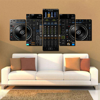 Novel Sound Music Vinyl DJ Player Canvas Printed Oil Painting Poster Picture for Home Office Wall Decoration