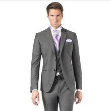 9e9b40665a4d New Grey Classic Wedding Groom Suits For Men Custom Made Cheap Wedding  Tuxedos Best Groomsmen Suit (Jacket+Pants+Vest+Tie