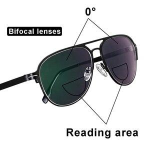 Image 3 - Transition Photochromic Bifocal Reading Glasses Optical Hyperopia Metal Frame UV400 Sunglasses