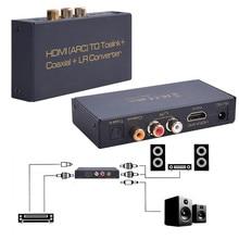 Высокое качество цифровой оптический коаксиальный коаксиальный hdmi arc to toslink коаксиальный l/r конвертер адаптер конвертер бесплатная доставка xp15m18