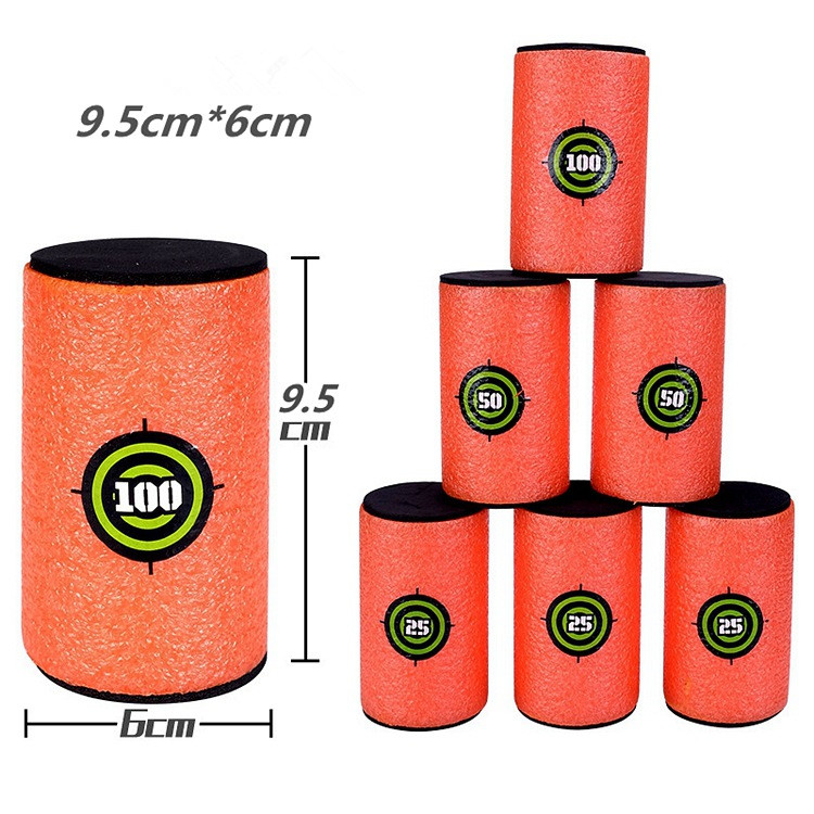 6PCS Foam Drink Bottle Bullet Training Supplies Toy Targets Shot Dart Nerf Target Set For N-strike Elite Games Soft Bullet Annex