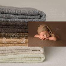 100*160 см тканевое одеяло для фотосессии новорожденных, трикотажное, мягкое, растягивающееся, для фотосессии