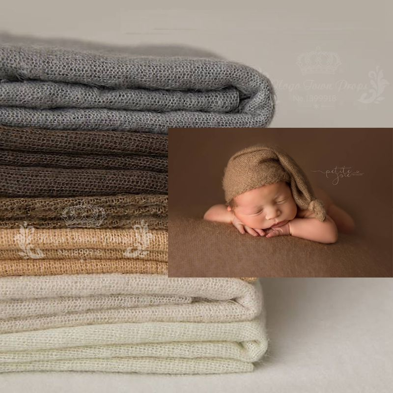 100*160 cm Newborn Photo Props Fabric Blanket, Knit Soft Stretch Photography Prop Filling Posing Stretchy Swaddl Bebe fotografia