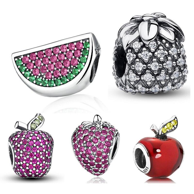 Fruit Charm Strawberry Watermelon Apple Pineapple Pave