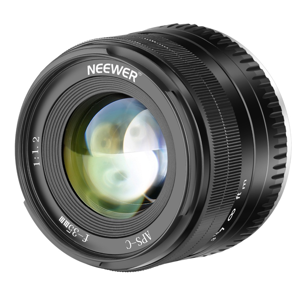 Neewer 35mm F1.2 Large Aperture Prime APS-C Aluminum Lens for Fuji X Mount Mirrorless Cameras neewer 35mm f1 2 large aperture prime aps c aluminum lens compatible with fuji x mount mirrorless cameras x a1 x a10 x a2 x a3