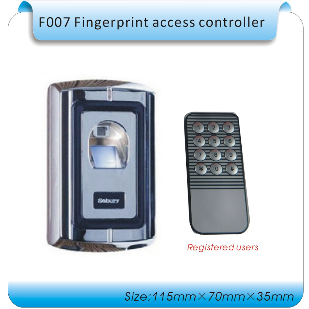 Free shipping DIY Metal case F007 fingerprint access controller+ fingerprint entrance guard control +remote