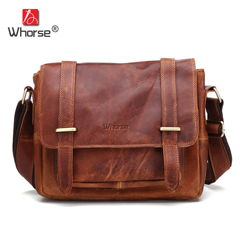 Brand Vintage Crazy Horse Leather Messenger Bag Men Cowhide Business Briefcase Satchel Shoulder Crossbody Bags For Man WB3500 famous brand vintage casual crazy cowhide leather messenger bag men satchel crossbody shoulder business briefcase bag w0960