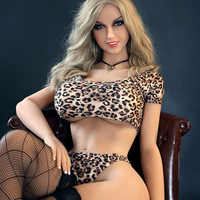 160cm Real Silicone Sex Dolls Full Size Men's Realistic Sex Doll Lifelike Europe Blond Blue Eyes LOVE Doll Real TPE Dolls