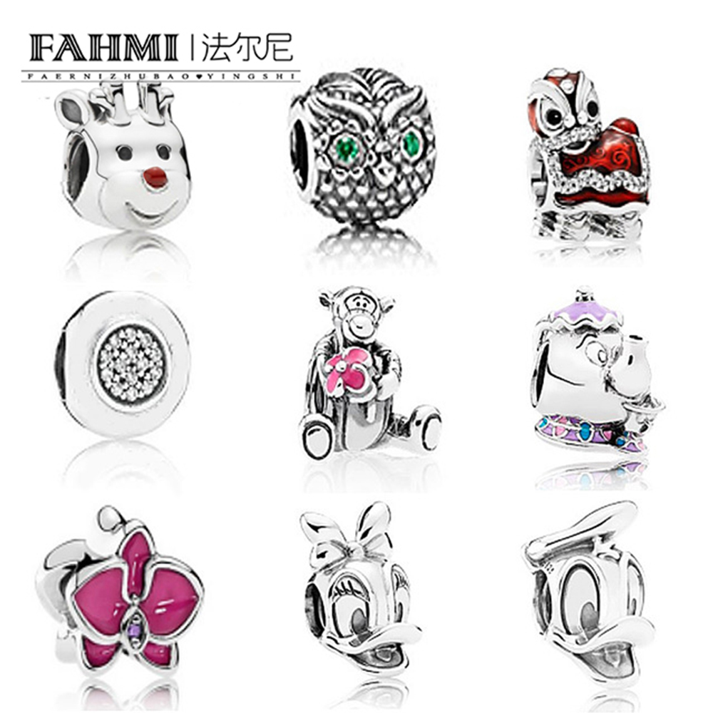 FAHMI 100% 925 Sterling Silver Crystal owl Charm Classic beads Fit Original bangle DIY Bracelet Jewelry birthday presentFAHMI 100% 925 Sterling Silver Crystal owl Charm Classic beads Fit Original bangle DIY Bracelet Jewelry birthday present