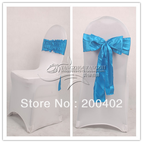 new desgin free shipping  satin chair bow,easy to fit on chair  no tie by hand