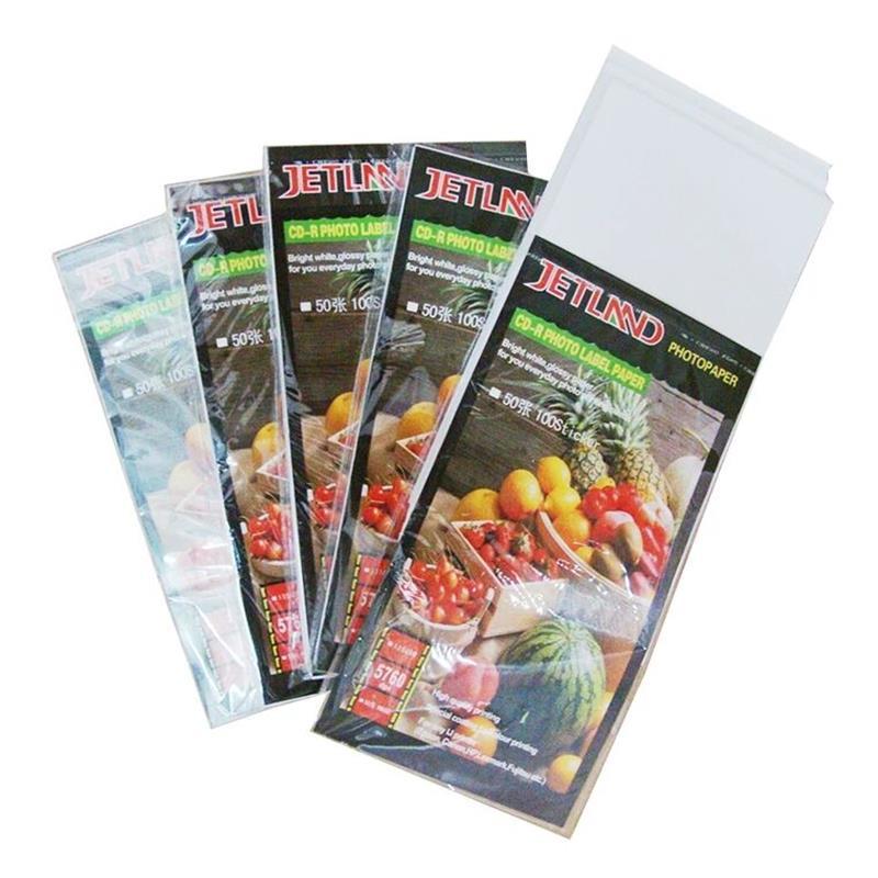 Printable CD DVD Cover Sticker  Inkjet Photo Paper Adhesive Sticker  Label, 135g, High Resolution  Images  For Inkjet Printer