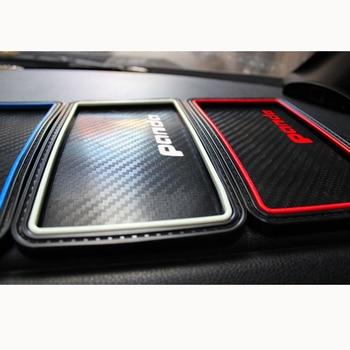 Для Fiat Panda углеродного волокна стиль автомобиля-антискользящий коврик для размещения мобильных телефонов, духи, ключи, монеты, и т. д.