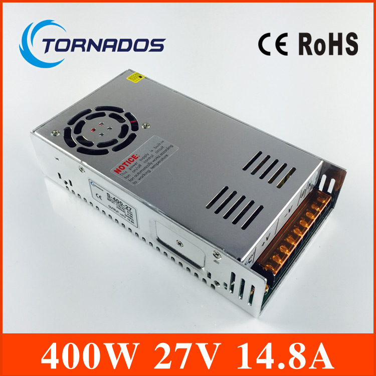 400W 27V 14.8A Single Output Switching power supply AC TO DC S-400-27 dianqi 400w 36v 11a single output switching power supply high quality power supply 36v 400w ac to dc power supply s 400 36