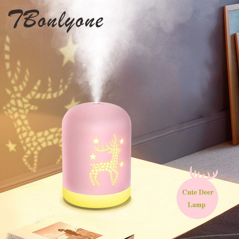 TBonlyone 340ML Deer Humidifier Water Soluble Oil Aroma Diffuser Water Humidificador Diffuser Electric Ultrasonic Air HumidifierTBonlyone 340ML Deer Humidifier Water Soluble Oil Aroma Diffuser Water Humidificador Diffuser Electric Ultrasonic Air Humidifier