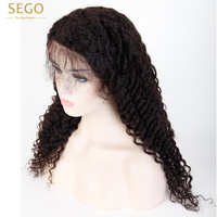 SEGO Deep Wave Wig For Black Women Full Lace Wigs Human Hair Pre Plucked With Baby Hair Remy Hair Brazilian Full Lace Wig