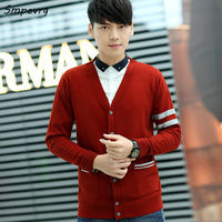 Smpevrg Autumn Winter Casual New Cashmere Man Sweater Fashion V Neck Long Sleeve Knitted Men Sweaters