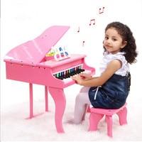Обучение образования детей реальной жизни фортепиано 30 ключ полноценно Малый фортепиано деревянная игрушка музыкальный инструмент с форт