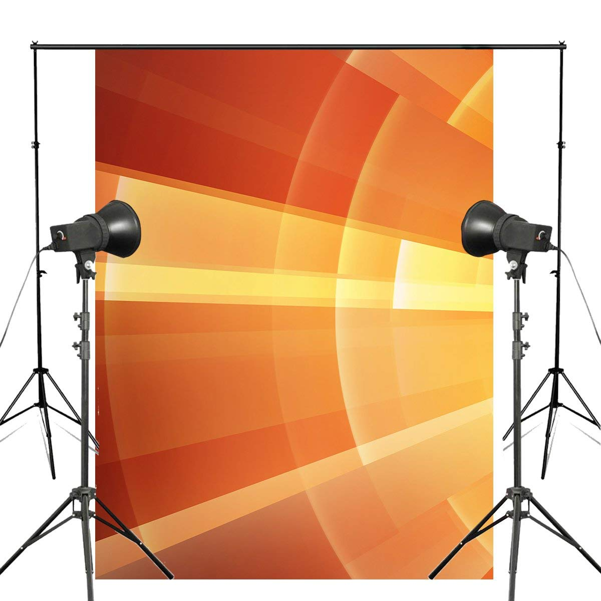 Abstract Art Background Photography Shining Backdrops For Picture Photo Studio Orange Background Props 5x7ft-in Photo Studio Accessories from Consumer Electronics