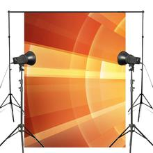 Abstract Art Background Photography Shining Backdrops For Picture Photo Studio Orange Background Props 5x7ft