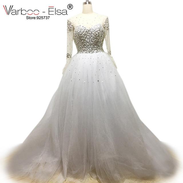 crystal wedding dresses Ball Gown Wedding Dress 2018 rhinestone ...