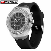 PANARS New Arrival Elegant Bling Diamond Patchwork Colorful Women Fashion Quartz Wristwatches Multi-function Watches Clock Girls