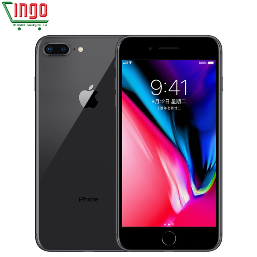 Original Unlocked Apple iphone 8 Plus 5.5 inch 3GB RAM 64G ROM Hexa Core 12MP 2691mAh iOS LTE Fingerprint iphone8p Mobile Phone