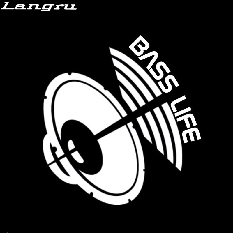 Langru New Style Bass Life Car Decal Window Sticker Subwoofer For