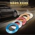 Artículo 5 m coche decorativas pegatinas de La decoración interior del coche Adecuado para cualquier modelo 7 color opcional interior fuselaje aparecen