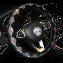 Bling Bling Colorful Rhinestone Car Steering Wheel Covers Diamond Crystal Wheel Cover for Women Girls Car Accessories Interior цена в Москве и Питере