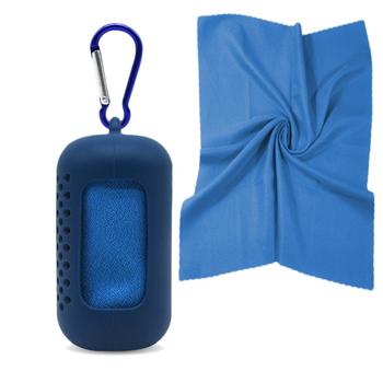 Przenośny błyskawiczny ręcznik chłodzący szybkie suszenie z silikonową obudową zimna jazda na rowerze na świeżym powietrzu Jogging Gym sport joga ręcznik na siłownię #20 tanie i dobre opinie aiboduo Quick-dry Bielone Tkanina z mikrofibry
