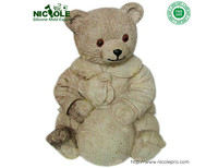 Big Size 3D Cute Bear Resin Crafts Polymer Clay Forms Silicone Soap Molds