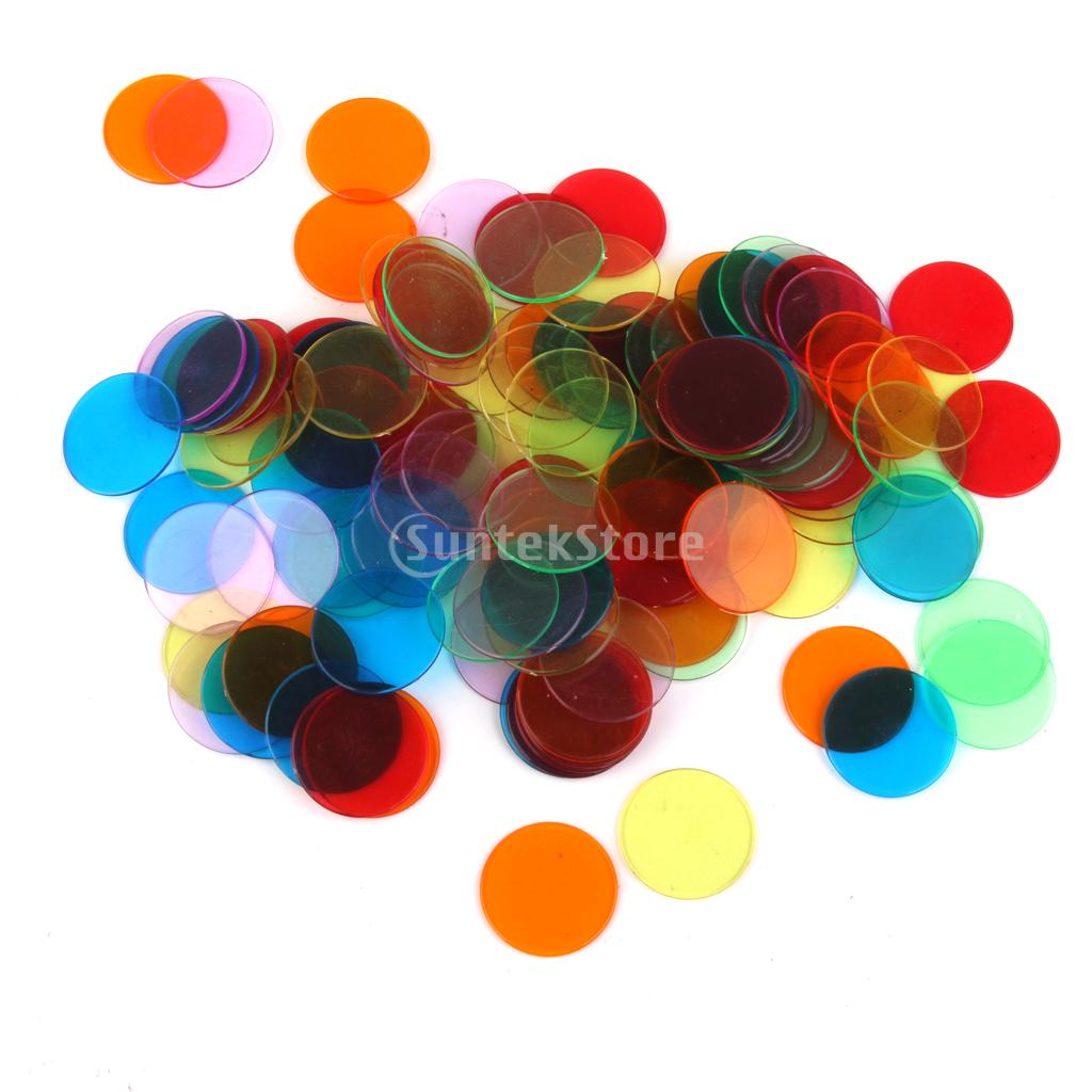 120pcs PRO Count Bingo Chips Markers for Bingo Game Cards 3cm 6 Colors