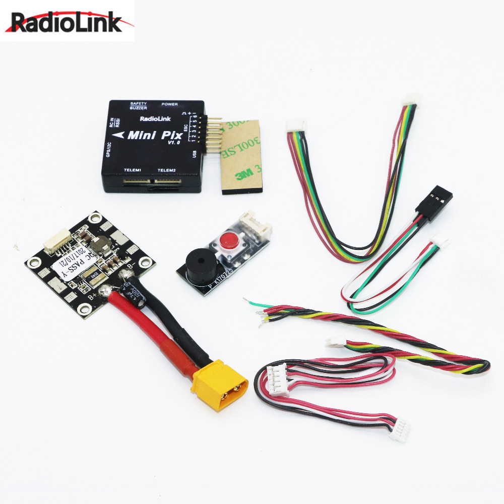 1set Radiolink Mini PIX Flight Control V1.0 Top Configuration Vibration Damping by Software Atitude Hold for Pixhawk RC Drone radiolink mini pix gps flight control by software atitude hold for rc racer drone multicopter quadcopter