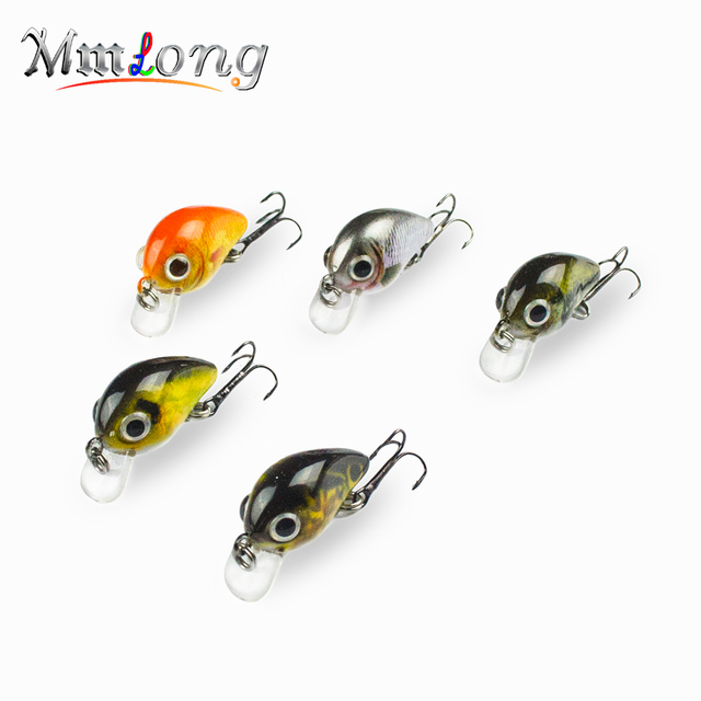 Fishing Lures Crankbait SMH04A 5 Color Lifelike Hard Fish Bait 1.9g Small  Fishing Lure Wobblers Tackle