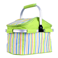 Outdoor Picnic Basket Picnic Bag Waterproof Thermal Food Cooler Foldable Large Capacity Picnic Basket Camping Picnic Lunch Bag jeebel 18l double deck outdoor picnic basket bag storage thermal bag handbags shoulders camping cooler tote thermo