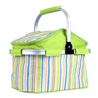 Outdoor Picnic Basket Picnic Bag Waterproof Thermal Food Cooler Foldable Large Capacity Picnic Basket Camping Picnic Lunch Bag